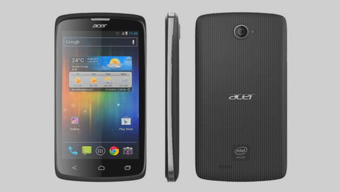 يعتمد هاتف إيسر معالج من شركة إنتل وشاشة عالية الوضوح بقياس 4.2 إنش