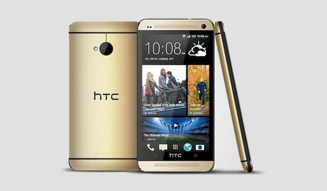 HTC One brilliant gold