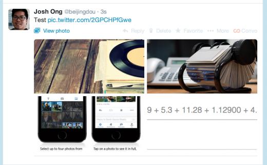 الآن يمكنك نشر 4 صور على تويتر ضمن تغريدة واحدة