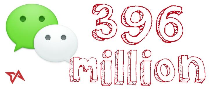 396 مليون مستخدم نشط شهريا لتطبيق التراسل الفوري WeChat