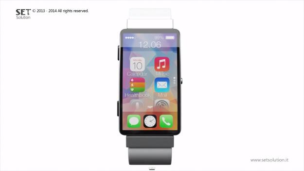 تصور جديد لتصميم ساعة أبل الأولى iWatch