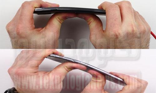 بالفيديو ..جالاكسي نوت 3 يواجه آيفون 6 بلس في اختبار الانحناء ..هل يتفوق هاتف سامسونج؟
