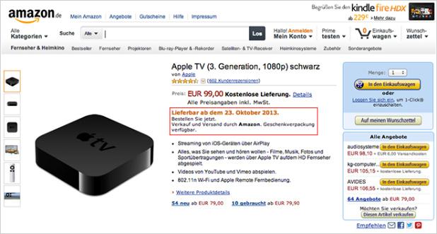أمازون أبل تي في الجديد سيكون متاحا للشراء غدا
