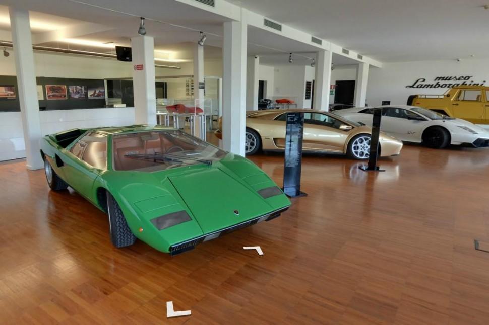 جولة من غوغل في متحف سيارات لامبورغيني