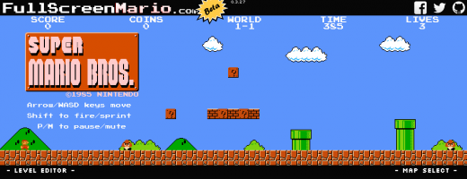 لعبة سوبر ماريو متاحة الآن على الويب