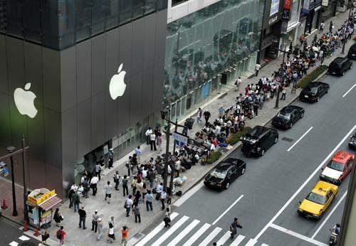 أبل تستحوذ على سوق الهواتف المحمولة في اليابان