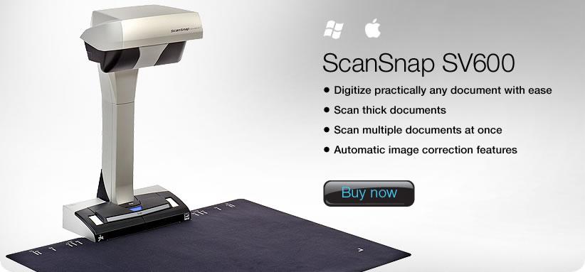 الماسحة الضوئية Fujitsu ScanSnap SV600 متاحة الآن لنظام تشغيل ماك