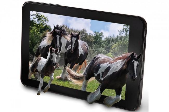 لوحي بشاشة ثلاثية الأبعاد تعمل دون نظارة