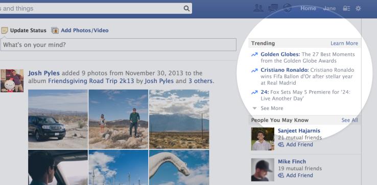 فيسبوك تطلق خاصية جديدة لعرض الموضوعات الأكثر شعبية
