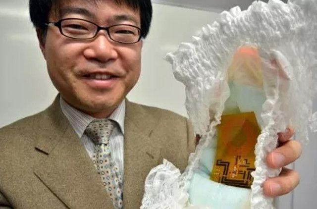 باحثون يابانيون يكشفون عن حفاضات ذكية
