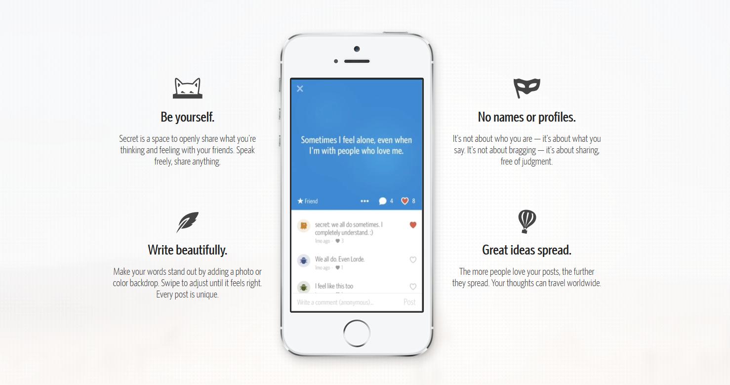 إطلاق تطبيق مشاركة الأفكار Secret لنظام أندرويد
