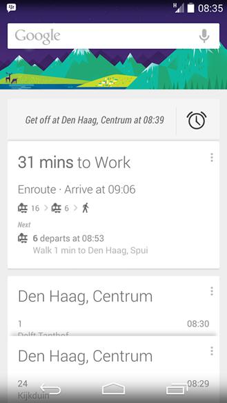 غوغل توقظك في المواصلات عندما تغفو