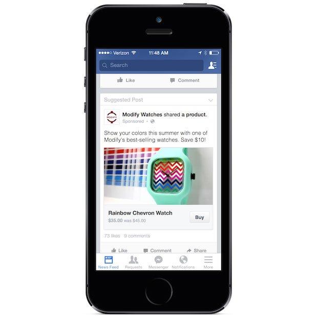 فيسبوك يختبر زر للشراء من الموقع مباشرة