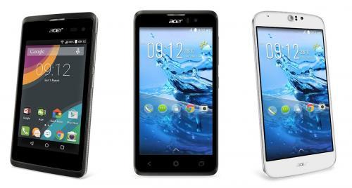 آيسر تعلن عن ثلاثة هواتف ذكية تعمل على أندرويد