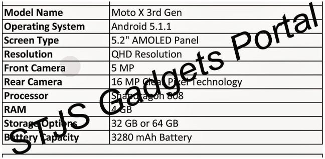 تعرف على المواصفات المسربة حول الجيل القادم من هاتف Moto X.