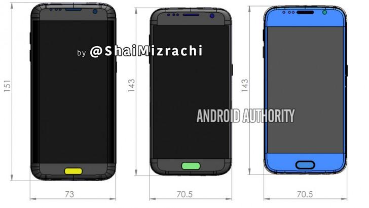 صور مسربة توضح الأبعاد المتوقعة لهاتف Galaxy S7 المنتظر