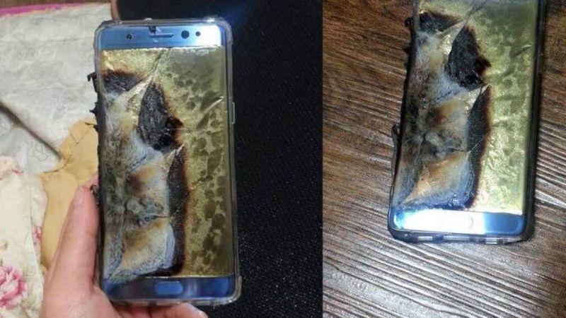 """انفجار هواتف """"غالاكسي نوت 7"""""""