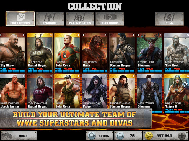 لعبة wwe immortals للايفون