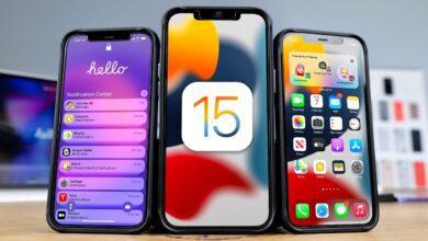 الإصدار التجريبي من iOS 15