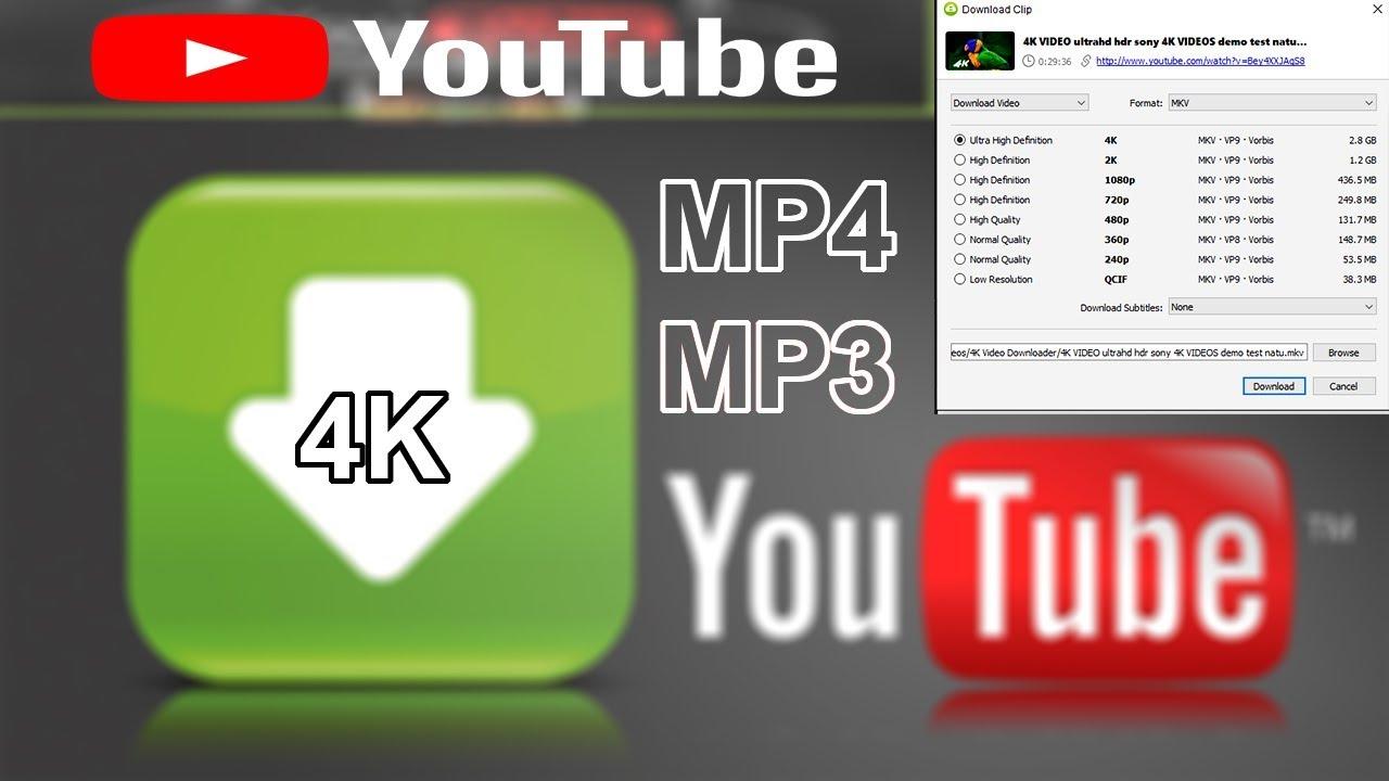 تنزيل مقاطع فيديو يوتيوب بدقة 4kمجانًا
