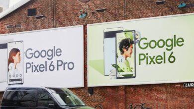 جوجل تبرز تصميم هواتف بيكسل 6 وبيكسل 6 برو في لوحاتها الإعلانية