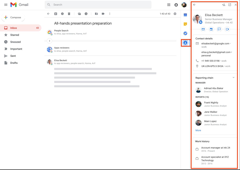 الآن أصبح تطبيق Contacts مُدمج في العديد من خدمات جوجل