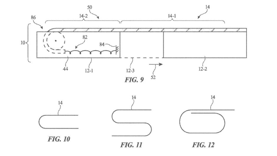 براءة اختراع من أبل تكشف عن خطة لطرح آيفون قابل للف