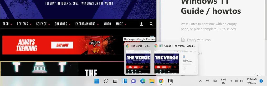 كيف تستغل خاصية تقسيم التطبيقات على الشاشة في ويندوز 11