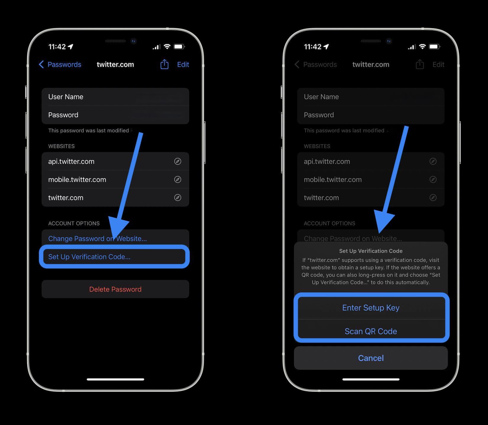 كيف تستخدم مولد أكواد المصادقة الثنائية في نظام iOS 15