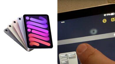 تعرض مستخدمي آيباد ميني 6 لمشكلة احتراق الشاشة وتغير قيم الألوان