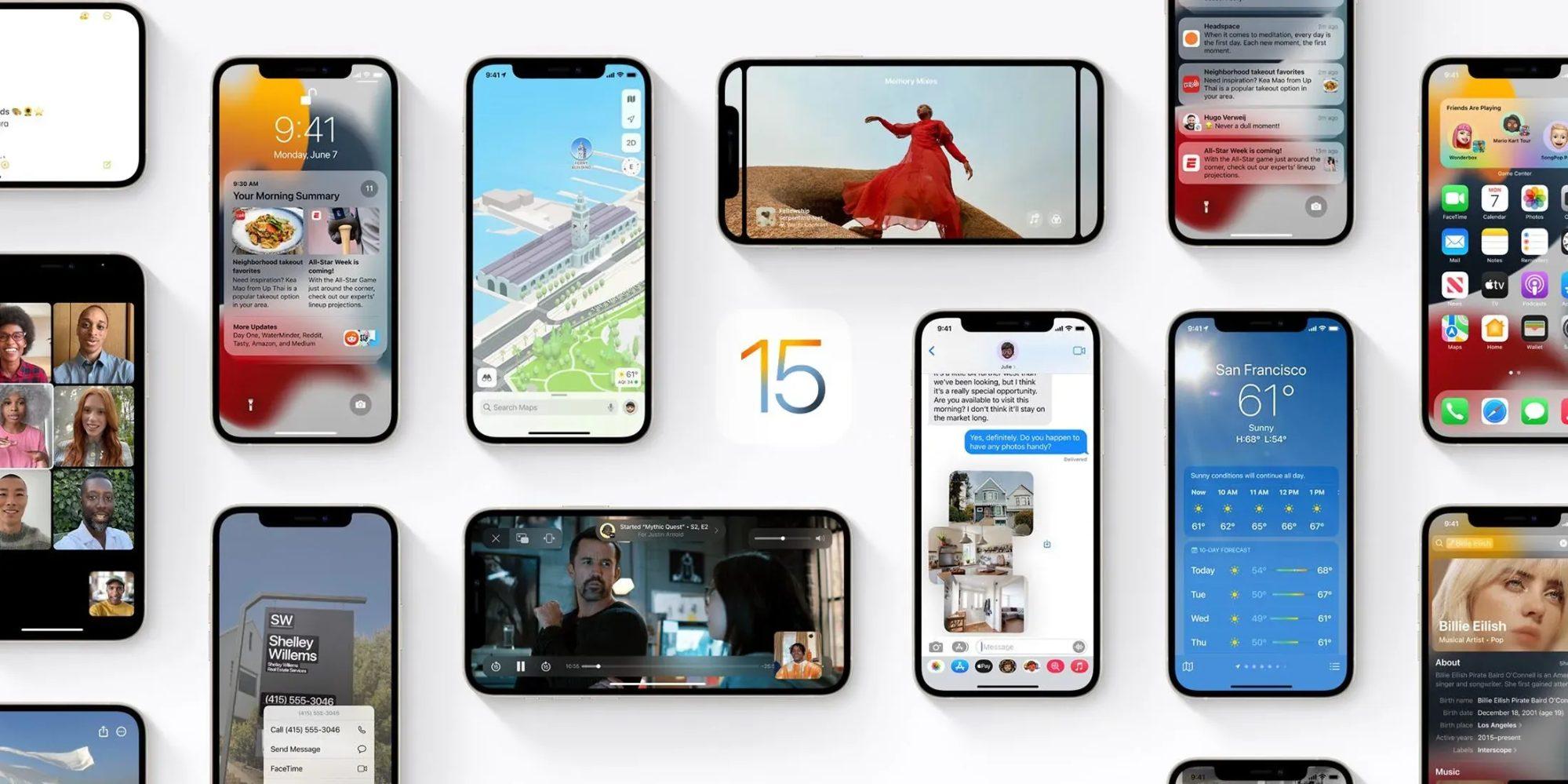 أبل تطرح تحديث iOS 15.0.2 مع إصلاح بعض الأخطاء