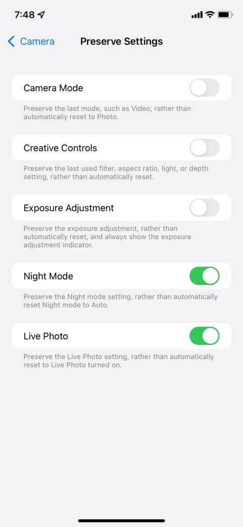 كيف تقوم بتعطيل وضع التصوير الليلي في هواتف آيفون؟