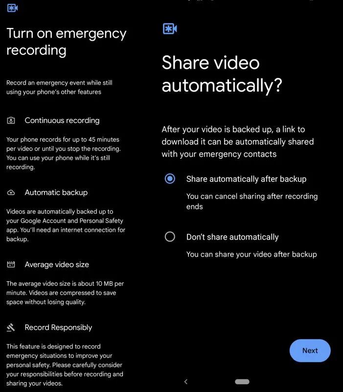 خاصية جديدة لهواتف جوجل بيكسل تتيح تسجيل الفيديوهات تلقائيًا أثناء وضع الطوارئ