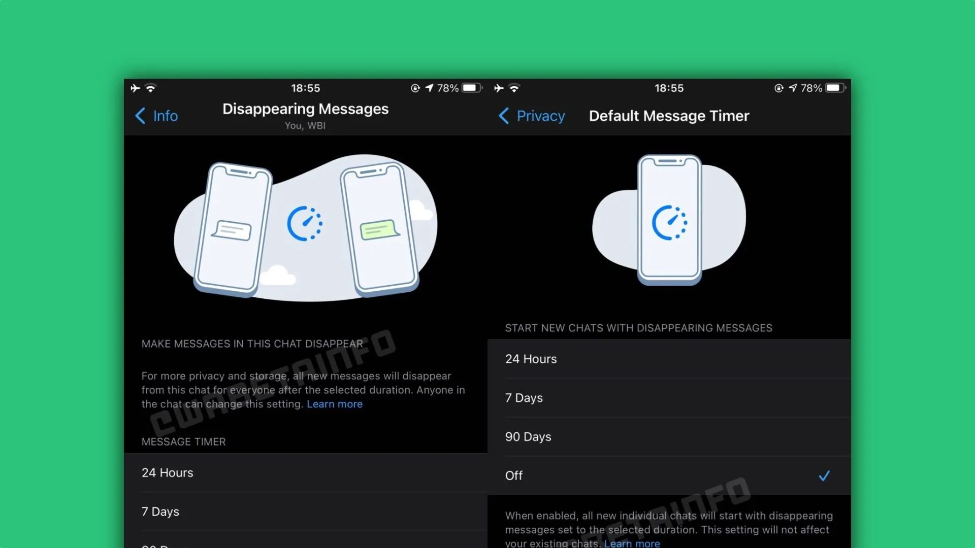 الجديد في تحديث واتساب لنظام iOS: إضافة خاصية الرسائل ذاتية الاختفاء وفقاعات الدردشة المعاد تصميمها